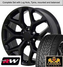 "22"" inch Wheels and Tires for GMC Sierra 1500 OE Replica CK156 Satin Black Rims"