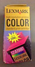 Lexmark 12A1980 High Resolution Color Ink Standard Print Cartridge Sealed