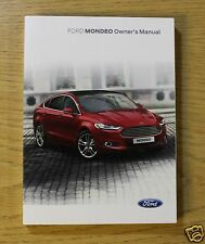 FORD MONDEO 2014-2018 HANDBOOK OWNERS MANUAL AUDIO NAVI SYNC
