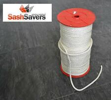 Timber Sliding Sash Window Nylon Pre-Stretched Sash Cord 6mm - Washing Line/Rope