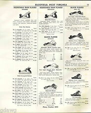 1941 ADVERT 3 PG Stanley Defiance Iron Planes Tools Block