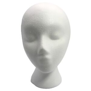Styrofoam Mannequin Wig Head Wig Holder White Head Foam, New