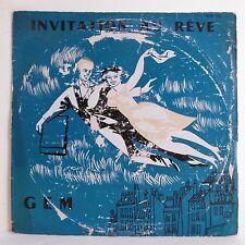 """33T INVITATION AU REVE Vinyle LP 12"""" L. DUPONT-BECKER & GRAND ORCHESTRE -GEM 166"""