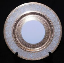 """HEINRICH & Co. SELB, BAVARIA, 11"""" GOLD ENCRUSTED PLATE/CHARGER, MINT COND"""