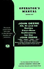 JOHN DEERE 40 41 42 4 Row Cultivator Operators Manual