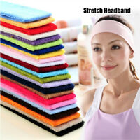 Elastic Headbands Sweat Band Hairband Stretch Ribbon Headwear Yoga Hair Bands