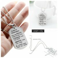 Lettering always remember you are braver Pendant Inspirational Necklace Jewelry