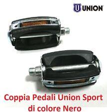 """0230 - Coppia Pedali """"Union"""" Vintage Sport Neri per Bici 20-24-26 Olanda"""