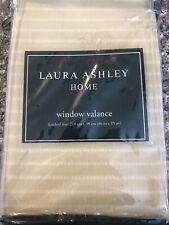 Laura Ashley Home One Window Valance Vintage 86 x 15 Berkeley beige white stripe