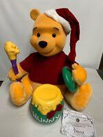 Winnie The Pooh & Hunny Pot Christmas Animated Lighted- Telco Motionette
