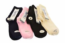 Sierra Socks Turn Cuff Organic Cotton Seamless Toe 3 pair Pack Socks W1211 2194