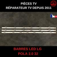 POLA 2.0 32 AGF78399401 HC320DXN-VSFP4-21XX BARRES LED LG 32LN550B ET AUTRES