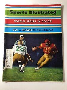 Oct 14 1968 Sports Illustrated Magazine USC vs Miami OJ Simpson  World Series