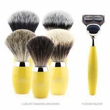 Luxury Synthetic Badger Hair Shaving Brushes & Cartridge Razor with Alum Block