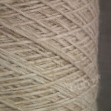 SUPER SOFT 4 PLY WOOL MOHAIR BLEND YARN - LARGE 500g CONE 10 BALLS CREAM NATURAL
