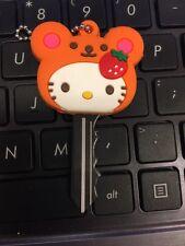 Hello Kitty Key Cap-Cute Strawberry Hello Kitty Key Cover Cap
