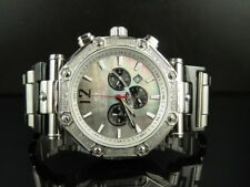 Mens Aqua Master Black MOP Dial S.Steel 45MM Diamond Watch W#147-89-15 0.24 Ct