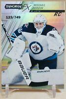 Mikhail Berdin 2020-21 UD Synergy FX Rookies #FXR-MB RC /749 - Winnipeg Jets