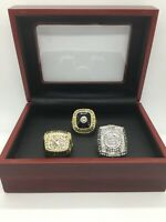 3 Pcs Hockey Boston Bruins Ring Hockey Stanley Cup Ring with Display Box