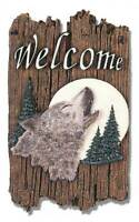 "Welcome Sign, ""Wolf"" Porch Decor Slate Plaque [ID 3935731]"
