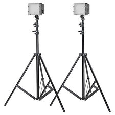 Neewer 2 Set Studio Lighting Kit ( Dimmable Led Video Light + 190cm Light Stand)