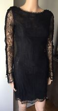 2K EMILLO PUCCI RUNWAY BLACK LACE DRES WOW!! SZ IT 40