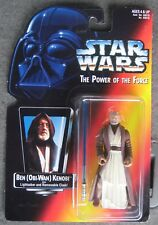 1995 Kenner Ben (Obi-Wan) Kenobi with Lightsaber & Removable Cloak.Potf Moc