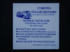 COROWA RSL CLUB SMASH REPAIRS 208 BORAL CRT 060 332844 GREEN COASTER
