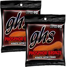 GHS S325 Phosphor Bronze Acoustic Guitar Strings Light 12-54 - 2-SET PACK