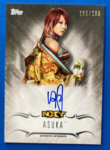 2016 Topps WWE Undisputed #UA-AS Asuka Autograph Card 285/299