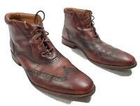 Cole Haan Mens Ankle Boots Brown Leather Wingtip Brogue Lace Up Size 14 M