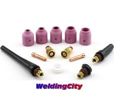 "TIG Welding Torch 17/18/26 Stubby Gas Lens Kit 1/16""-3/32"" T23D 