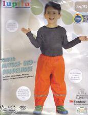 Lupilu Kinder Jungen Matsch Buddelhose Matschhose gefüttert orange 86/92 Neu