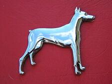 ~ DOBERMAN DOG MOTORCYCLE EMBLEM Chrome Metal Car Badge *NEW fit Harley Davidson