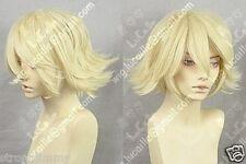FREE SHIPPING Hot Sell! Urahara Kisuke Short Light Blonde Cosplay Wigs w006