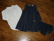 Gymboree Glamour Kitty Denim Dress Bloomers Top 12-18