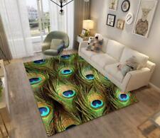 3D Peacock Feather Non-Slip Rug Door Shower Play Mat Hearth Floor Carpet 11