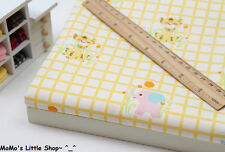 Nursery/Children/Babies Pure Cotton Fabric (Owls Tigers Elephants Gingham) — ½ M
