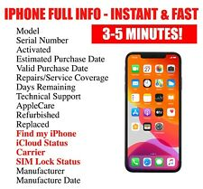 FAST iPhone info Check - IMEI /Simlock /Carrier /Find My Iphone /iCloud Status