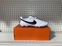 Nike Premier II FG Mens Soccer Cleats Size 11.5 White Black Kangaroo Leather