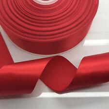 New DIY 20 Yards 2 inch 50mm width red Multi-purpose Bow Ribbon Wedding Crafts