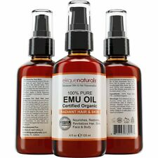 EMU OIL 4 oz 100% Pure Use For Hair Treatment Skin Moisturizer wrinkles