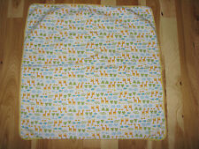 Carters I Love Hugs Frog Blanket Yellow Stripe Giraffe Elephant Turtle Duck