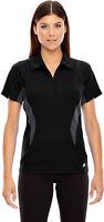 North End Sport Women's Performance Casual Short Sleeve Zipper Polo Shirt. 78657