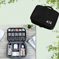 AM_ Portable Travel Storage Bag Electronics USB Charger Case Data Cable Organize