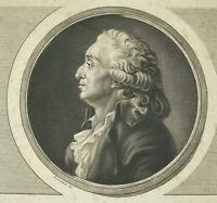 Nicolas of Caritat, Marquis of Condorcet Se Giving the Death Duplessi Bertaux Sc
