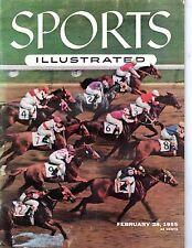 1955 2/28 Sports Illustrated magazine,Horse Racing, Swaps, Santa Anita Derby~GLR