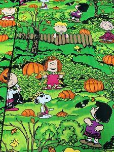1 Yard Peanuts Halloween Fabric It's A Great Pumpkin Charlie Brown Concord 2001