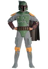 USED DELUXE ADULT BOBA FETT STAR WARS COSTUME SIZE XL