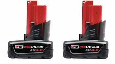 2-PACK Milwaukee 48-11-2440 12V XC 4.0AH Red Lithium-Ion Cordless Tool Batteries